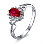 Gemstone Rings Online 0.25 Ct Natural Certified Diamond 0.80 Ct Ruby Solid Yellow Gold Party