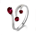 Gemstone Ring Design 0.55 Ct Natural Certified Diamond 1.20 Ct Ruby Solid Yellow Gold Workwear