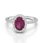 Natural Gemstone Rings 0.68 Ct Natural Certified Diamond 1.00 Ct Ruby Solid Yellow Gold Vacation