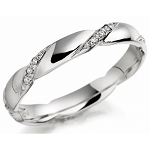 Diamond Ring Designs For Female 0.30 Ct Natural Certified Diamond Solid White Gold Designer Party