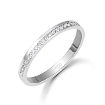 Diamond Ring For Ladies 0.50 Ct Natural Certified Diamond Solid White Gold Designer Workwear
