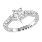 Diamond Ladies Ring 0.65 Ct Natural Certified Diamond Solid White Gold Designer Vacation