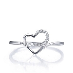 Buy Diamond Ring Online 0.20 Ct Natural Certified Diamond Solid White Gold Designer Everyday