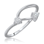 Gold With Diamond Ring 0.10 Ct Natural Certified Diamond Designer Office Wear