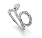 Diamond Ring Designs For Female 0.70 Ct Natural Certified Diamond Solid White Gold Designer Special Occasion