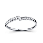 Buy Diamond Ring Online 0.20 Ct Natural Certified Diamond Solid White Gold Designer Party