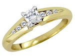 Diamond Engagement Rings For Women 0.60 Ct Certified Diamond Round Shape Solid Yellow Gold