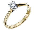 Solitaire Engagement Ring 0.50 Ct Certified Diamond Round Shape 18K Yellow Gold Anniversary