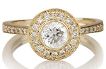 0.60 Ct Certified Diamond Round Shape Solid Yellow Gold Solitaire Ring Wedding