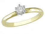 0.35 Ct Certified Diamond Round Shape Solid Yellow Gold Solitaire Ring Special Occasion