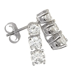 Diamond Studs 0.70 Ct Natural Certified Solid Gold Earrings
