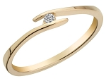 Ladies Diamond Ring Natural Round Certified Diamond 0.12 Ct Solid Gold  Party