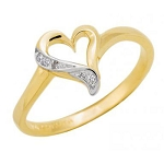Womens Diamond Rings Natural Round Certified Diamond 0.04 Ct Solid Gold  Workwear