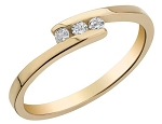 Gold With Diamond Ring Natural Round Certified Diamond 0.15 Ct Vacation