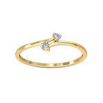 Diamond Ladies Ring Natural Round Certified Diamond 0.1 Ct Solid Gold  Special Occasion