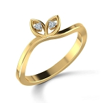 Diamond Ring Designs For Female Natural Round Certified Diamond 0.04 Ct Solid Gold  Festive