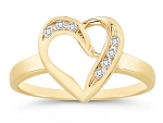 Diamond Gold Ring Natural Round Certified Diamond 0.14 Ct Office Wear