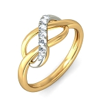 Best Diamond Rings Natural Round Certified Diamond 0.13 Ct Solid Gold  Festive