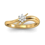 Ladies Diamond Ring Natural Round Certified Diamond 0.09 Ct Solid Gold  Vacation