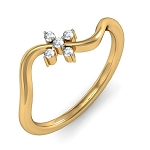 Best Diamond Rings Natural Round Certified Diamond 0.07 Ct Solid Gold  Special Occasion