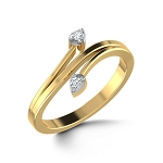 Diamond Ring For Ladies Natural Round Certified Diamond 0.05 Ct Solid Gold  Party