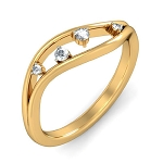 Womens Diamond Rings Natural Round Certified Diamond 0.07 Ct Solid Gold  Festive