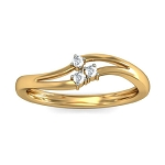 Diamond Ladies Ring Natural Round Certified Diamond 0.05 Ct Solid Gold  Workwear