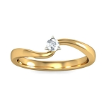 Diamond Ladies Ring Natural Round Certified Diamond 0.11 Ct Solid Gold  Special Occasion