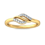 Diamond Ring Designs Natural Round Certified Diamond 0.1 Ct Solid Gold  Vacation