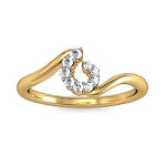 Beautiful Diamond Rings Natural Round Certified Diamond 0.13 Ct Solid Gold  Everyday