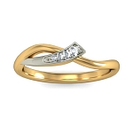 Diamond Ring For Ladies Natural Round Certified Diamond 0.05 Ct Solid Gold  Office Wear
