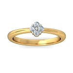 Best Diamond Rings Natural Round Certified Diamond 0.12 Ct Solid Gold  Festive