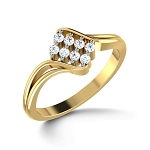 Diamond Gold Ring Natural Round Certified Diamond 0.17 Ct Everyday