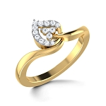 Diamond Ring Designs For Female Natural Round Certified Diamond 0.14 Ct Solid Gold  Office Wear