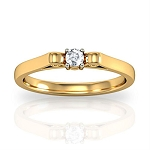 Diamond Ring Designs Natural Round Certified Diamond 0.15 Ct Solid Gold  Vacation