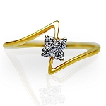 Ladies Diamond Ring Natural Round Certified Diamond 0.08 Ct Solid Gold  Weekend