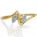 Diamond Ladies Ring Natural Round Certified Diamond 0.08 Ct Solid Gold  Everyday