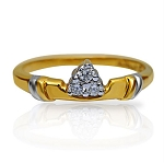 Diamond Gold Ring Natural Round Certified Diamond 0.06 Ct Special Occasion