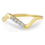 Gold With Diamond Ring Natural Round Certified Diamond 0.1 Ct Workwear