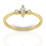 Diamond Ring Designs For Female Natural Round Certified Diamond 0.15 Ct Solid Gold  Vacation