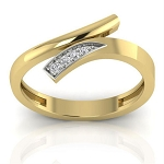 Diamond Ring For Ladies Natural Round Certified Diamond 0.08 Ct Solid Gold  Everyday