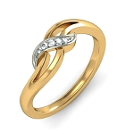 Gold With Diamond Ring Natural Round Certified Diamond 0.05 Ct Festive