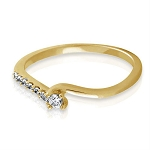 Diamond Ring Designs Natural Round Certified Diamond 0.22 Ct Solid Gold  Weekend
