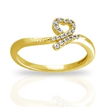 Beautiful Diamond Rings Natural Round Certified Diamond 0.19 Ct Solid Gold  Party