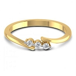 Gold With Diamond Ring Natural Round Certified Diamond 0.09 Ct Special Occasion