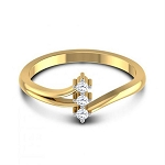Diamond Ring Designs For Female Natural Round Certified Diamond 0.09 Ct Solid Gold  Festive