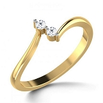 Diamond Ring For Ladies Natural Round Certified Diamond 0.06 Ct Solid Gold  Weekend