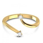 Diamond Ladies Ring Natural Round Certified Diamond 0.08 Ct Solid Gold  Party