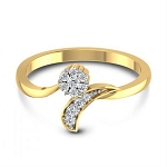 Gold With Diamond Ring Natural Round Certified Diamond 0.2 Ct Vacation