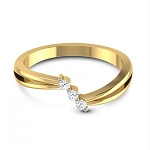 Diamond Ring Designs For Female Natural Round Certified Diamond 0.075 Ct Solid Gold  Everyday